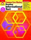Reading Informational Text, Grade 5 by Evan-Moor Educational Publishers (Paperback / softback, 2014)
