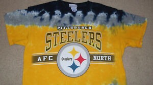 3e095a00d Tie Dye PITTSBURGH STEELERS BLACK   GOLD T-Shirt Medium NFL Licensed ...