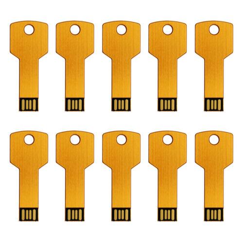 10PCS 1GB-8GB Metal Key USB 2.0 Flash Drive Flash Memory Stick Pen Thumb Drive