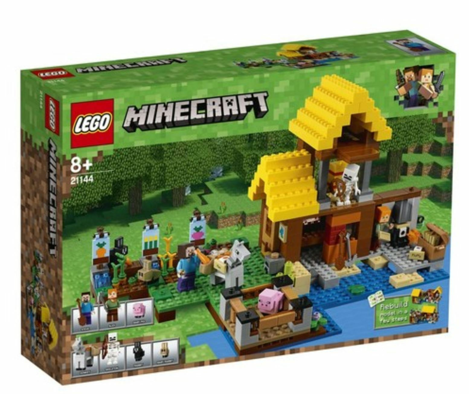 Minecraft™ The Farm Cottage 21144 2018 Version Free Shipping
