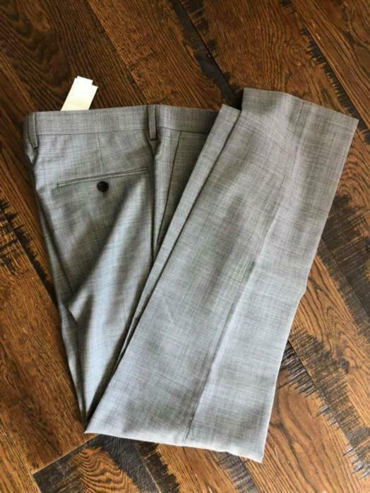 JCrew Ludlow Slim suit pants Italian stretch worsted wool g1110 minrl grey 34 34