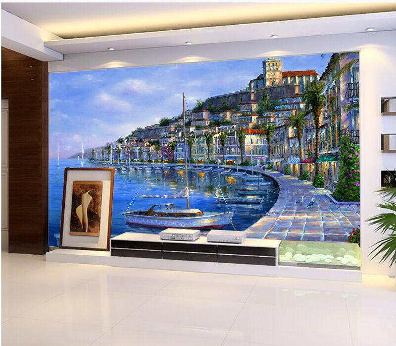 3D Modern Sea City 46 Wall Paper Wall Print Decal Wall Deco Indoor AJ Wall Paper