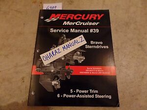 Mercury-MerCruiser-39-BRAVO-Power-Trim-amp-Assisted-Steering-Service-Manual-OEM