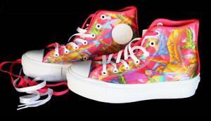 1568ba2855b Converse Colorful Neon BIRDS OF PARADISE HI-TOP Platform Shoes NWT 3 ...