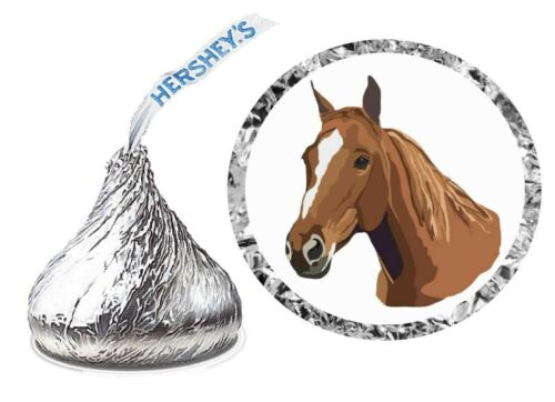 108 HORSE Birthday Party Favors Stickers Labels for Hershey Kiss