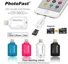 Photofast MFi CR-8800 SD MicroSD Lightning Card Reader for apple Iphone 6 Ipad