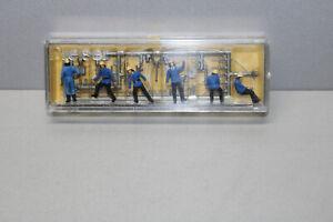 Preiser-4204-Figurines-Pompiers-avec-Appareil-Echelle-H0-Emballage-D-039-Origine