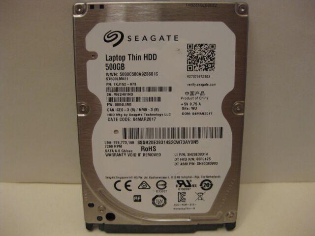*NEW* Seagate Laptop Thin 500GB 7200 RPM 2.5 Hard Drive ST500LM021