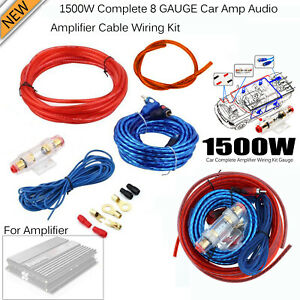 [SCHEMATICS_4LK]  1500W 10 GAUGE Cable Car Audio Kit Amp Amplifier RCA Wiring Wire Blue Red |  eBay | Car Audio Amp Wiring Kits |  | eBay