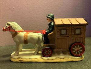 Vintage Lefton Colonial Village Figurine Cart 07830 c 1990 NOS