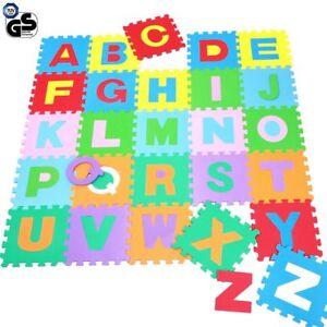 Tappeto-Puzzle-per-Bambini-Set-60-Pezzi-Gioco-Tappetino-Lettere-Alfabeto-Gomma
