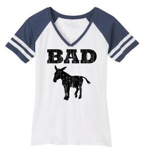 a321de66d5c6a Ladies Bad Ass Funny Tee Donkey Rude Party Tee Game V-Neck Tee