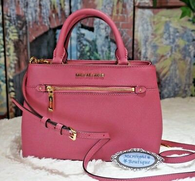 0bc57e90aa16 Michael Kors HAILEE EXTRA SMALL Satchel Crossbody Bag In TULIP PINK Leather  $398