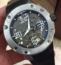 Richard Mille RM-033 Extra Flat Skeleton Dial Titanium on Strap 45.7mm Complete