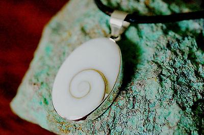 Silber Kettenanhänger Shiva Eye 3. Auge Natur Schnecke Argonit Spirale Schlicht | eBay