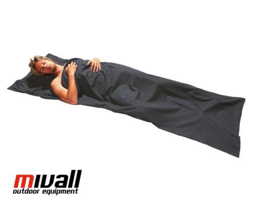 Hüttenschlafsack Baumwollinlett Decke Schlafsack inlett grau 220x75cm Mivall
