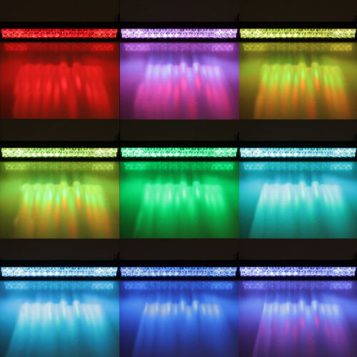 5D 32inch 180W Rock RGB CREE LED Light Bar MultiColor Offroad Truck SUV Disco 36