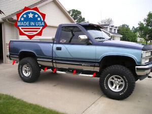 88-98-Chevy-C-K-CK-Pickup-Regular-Cab-Short-Bed-Chrome-Rocker-Panel-Trim-5-5-034-N-F