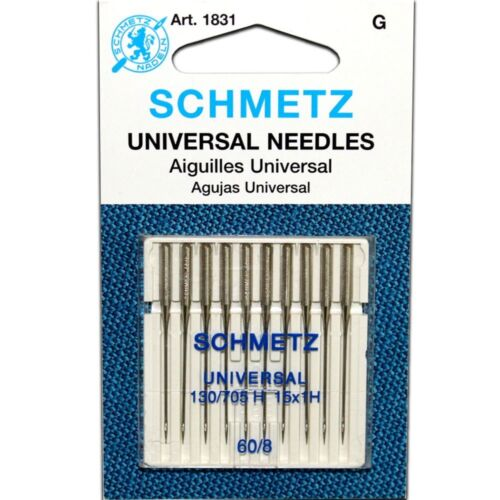 10PK SCHMETZ 15X1 UNIVERSAL SEWING MACHINE NEEDLES