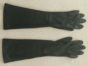 VINTAGE-LADIES-BLACK-15-1-2-LONG-OPERA-EVENING-GLOVES