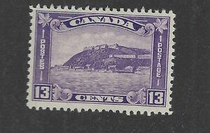 Canada Scott 201 13-cent Citadel issue Unused