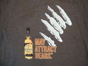 Odzież, Buty i Dodatki Jim Beam Honey Whiskey May Attact Bears Bartender Brown Men's T-shirt T-shirty
