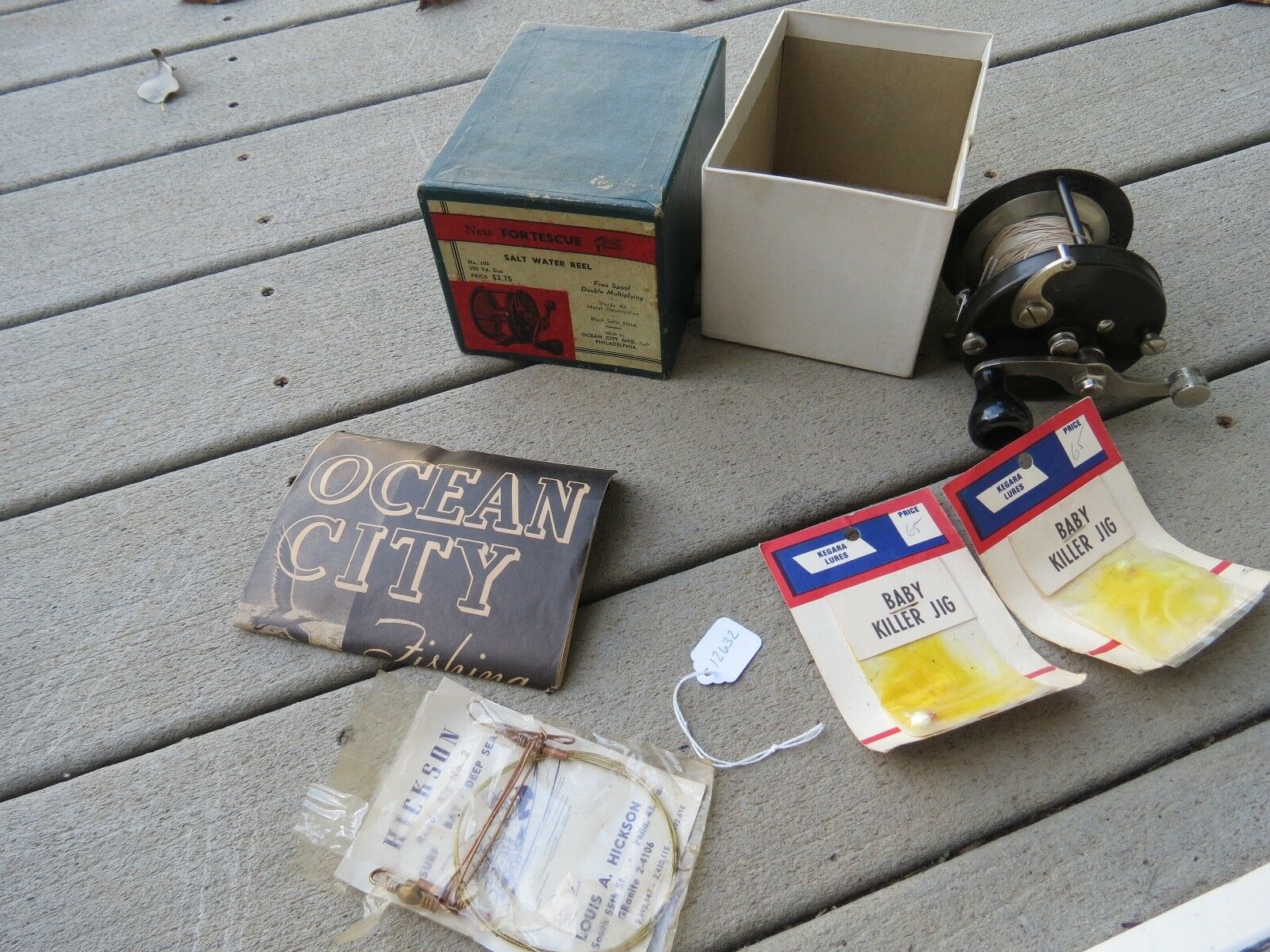 Ocean città Fortescue fishing reel satin finish with original scatola lot 12632