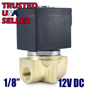 1-8-034-12V-DC-Electric-Brass-Solenoid-Valve-Water-Air-Gas-12-Volt-FREE-SHIPPING