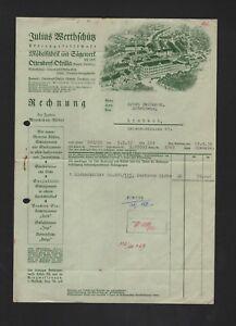 Ottendorf Okrilla Rechnung 1938 Julius Werthschütz Ag Möbel Fabrik