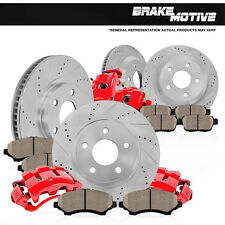 Front and Rear Calipers & Rotors Pads 2012 CHRYSLER 300 DODGE CHALLENGER CHARGER
