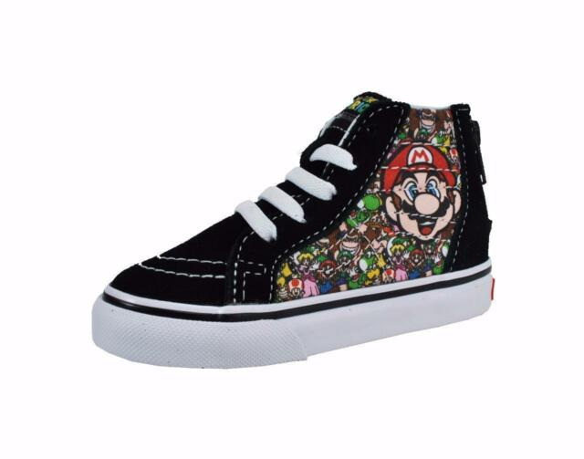 29b119cd82 Vans Nintendo Shoes Super Mario & Luigi Toddlers Sk8 Hi Zip VN000XG5K5P