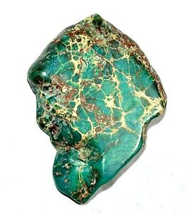 """Natural """"CARCIO LAKE TURQUIOSE"""" 62.20 CT Slab Drilled Untreated AGSL Certified"""