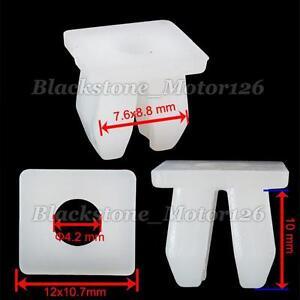 100 Bumper Nylon Nut #12 Screw Size Grommet Headlight Retainer Plastic Fastener