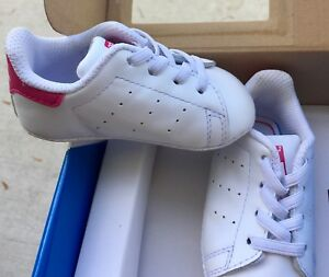 Details about Adidas Originals Stan Smith WhitePINK Baby Infant Shoes Crib Sneakers Size 2K