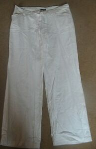 BNWT MATERNITY Black Linen Blend Cropped Trousers Size 12