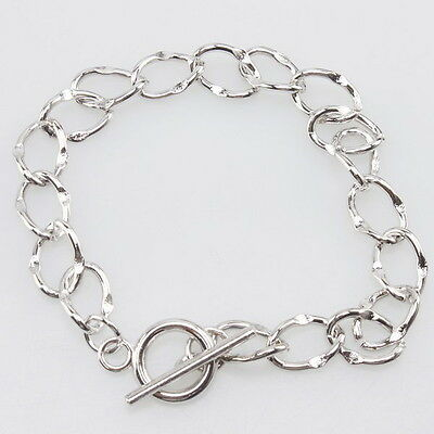 Free Shipping 7x Chain Link Charms Bracelet 21cm 220003