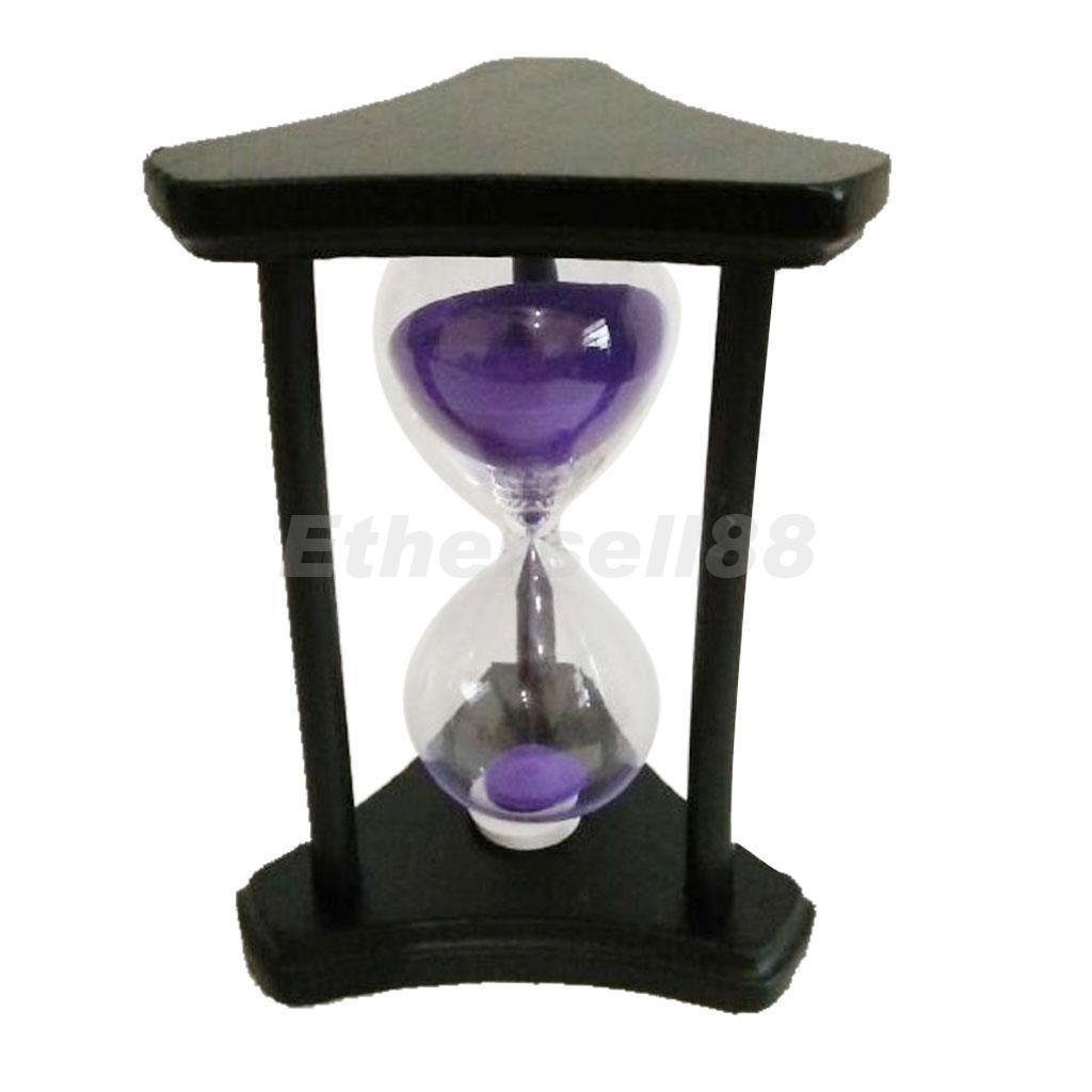 30 minutes triangle violet sable sablier hourglass minuterie horloge temps décoration cadeau