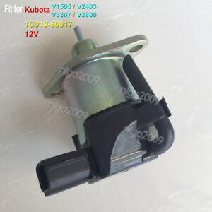 Details about 1C010-60017 12V Fuel Shut Off Solenoid Fit for Kubota V1505  V2403 V3307 V3800