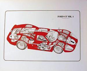 1967 Dan Gurney Mark IV 24 Hours of LeMans Race Poster Carroll Shelby Ford GT40