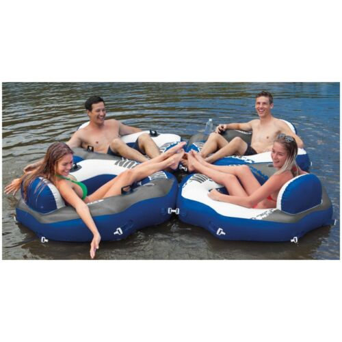 and Mega Chill Floating Beverage Cooler Intex River Run Inflatable Tube 4 Pack