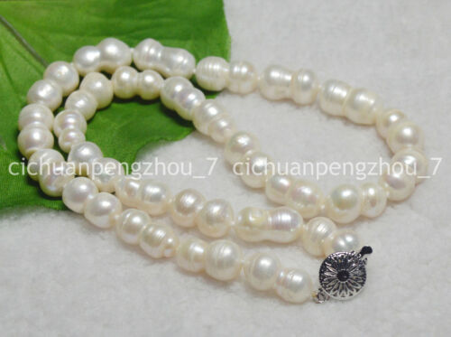 10-18MM SOUTH SEA WHITE BAROQUE NATURAL PEARL NECKLACES 17-24/'/' C2168