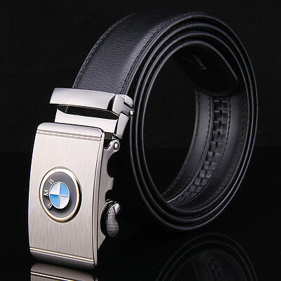Fashion Luxury Casual Genuine Leather Mens Belt Automatic Buckle Waistband Strap