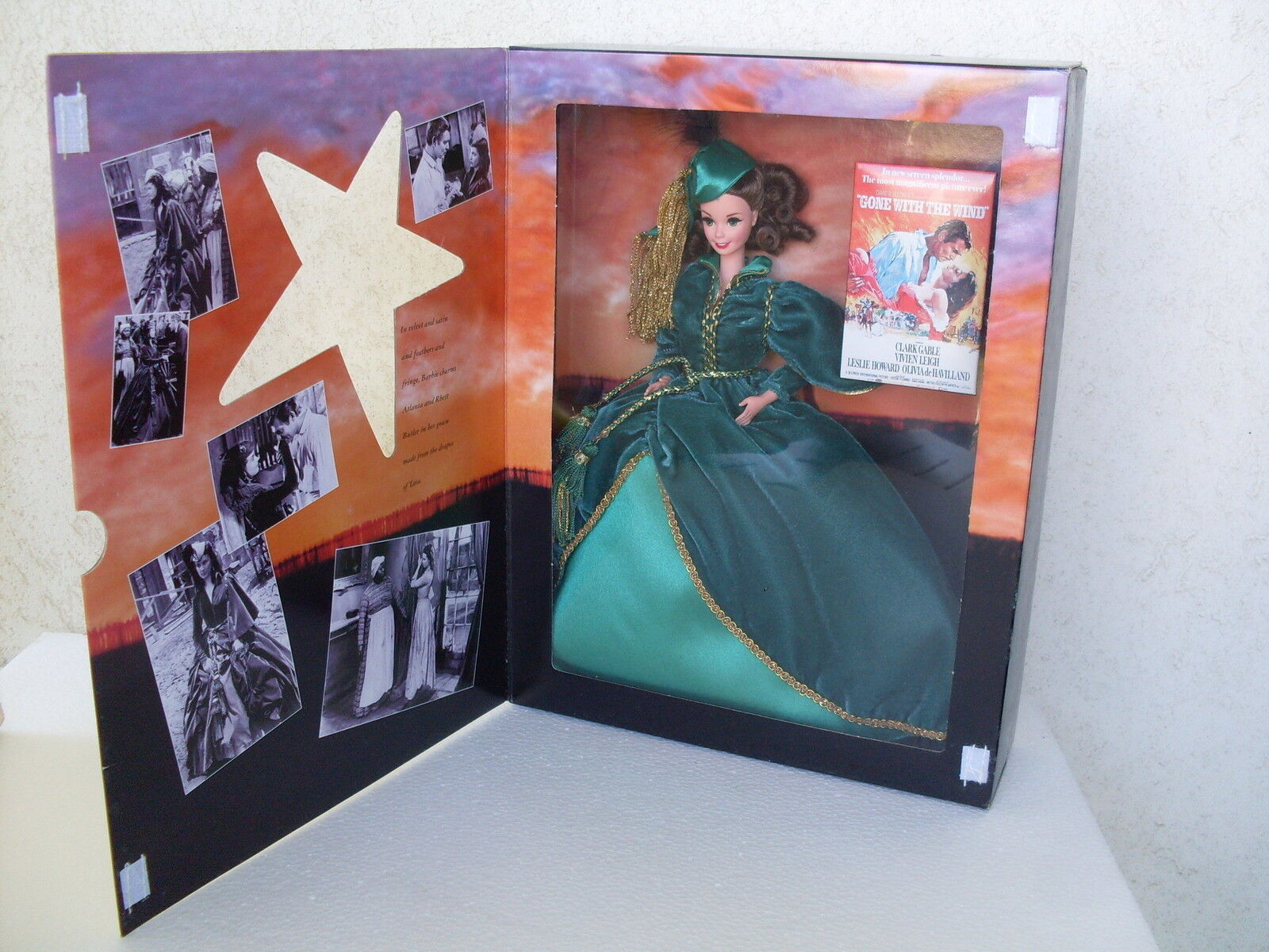 Barbie scarlett o'hara gone with the wind wind wind via col vento legends 1994 NRFB 12045 00e1bf