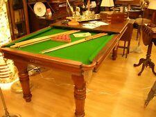 antico biliardo/tavolo inglese in mogano snooker/tavolo J. RILEY LTD, fine '800