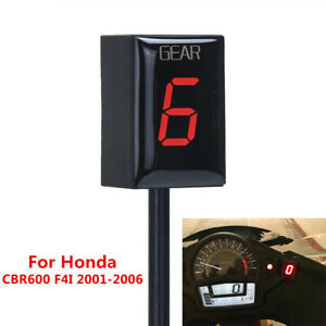 Red-Digital-Gear-Indicator-LED-Display-Sensor-For-Honda-CBR600-F4I-2001-2006