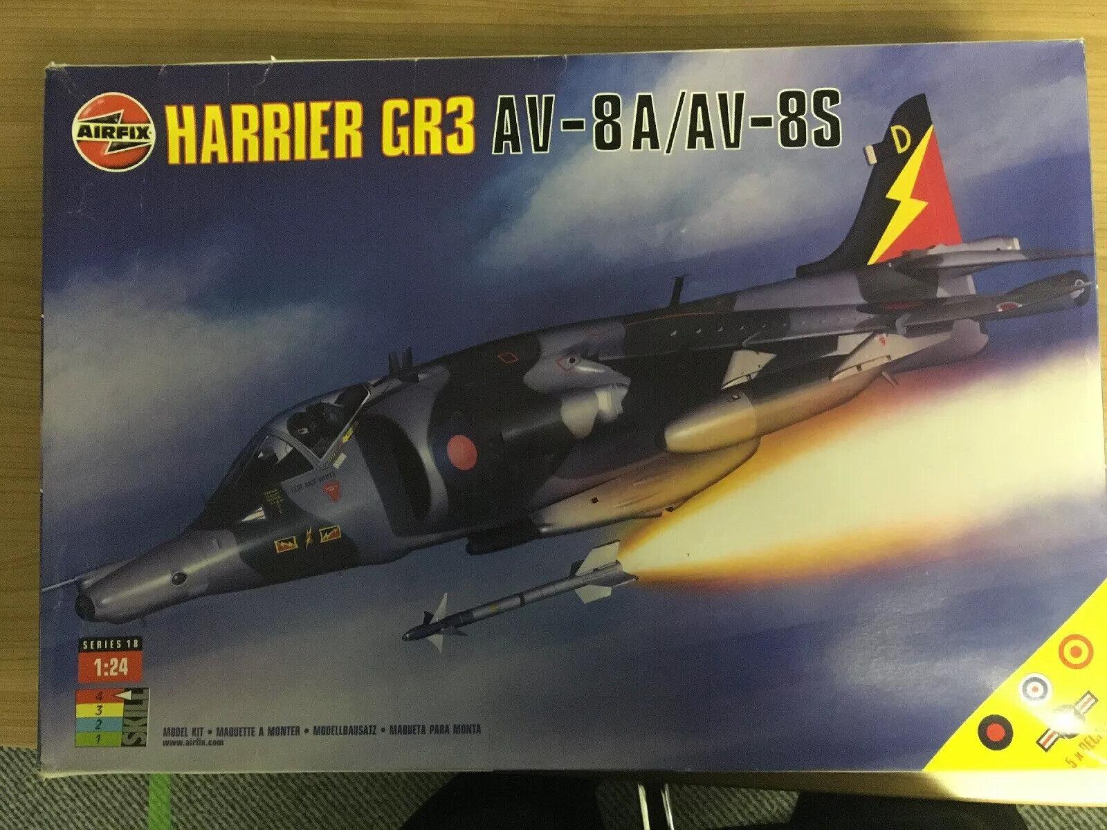 Harrier 1 24 Airfix A18003 Modelllbausatz BAe Harrier Gr.3 AV-8A AV-8S