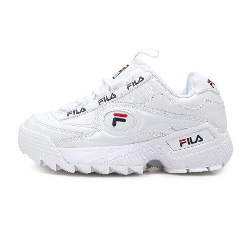 New FILA Disruptor IIl 3 Formation Women's Sneakers Shoes - White(FS1HTA3811X)