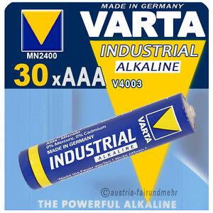 """30x Varta Batterie Micro Aaa V4003 Lr03 Industrial GüNstigster Preis Von Unserer Website"