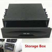 Black Universal Car Dash Trim Single Din CD Player Radio Pocket Kit Storage Box