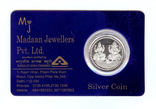 5 Grams Pure 999 Hallmarked Ganesh Lakshmi Ji Silver Coin in Laminated Packing